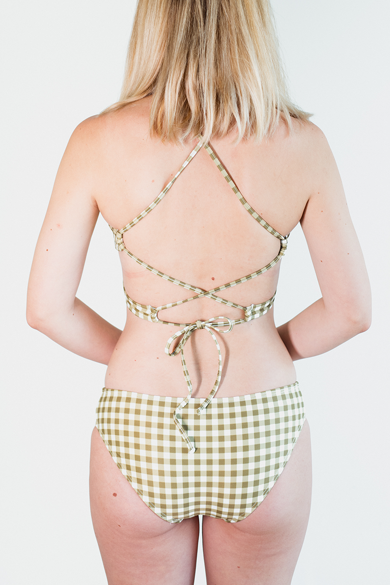 CLASSIC BOTTOM - Gingham-Olive