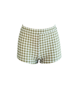 SHORTIE BOTTOM - Gingham-Olive
