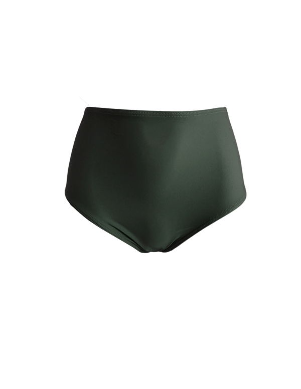 HIGH WAIST BOTTOM - Olive