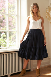 Lollys Laundry Sana Skirt Skirts 27 Dark Navy