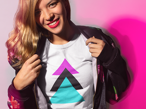 trinity geometric triangle retro tshirt design juger buy online webshop