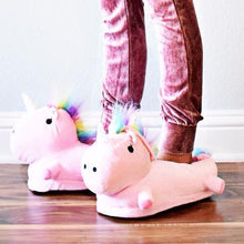 LED Women's and Girls Rainbow Unicorn Slippers