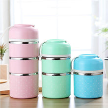 Stainless Steel Metal Lunch Box Containers With Insulated Compartments