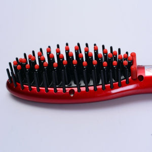 Electric Heated Hair Straightening Brush Comb