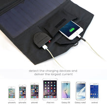 Solar Charger Panel Waterproof Foldable Solar Power Bank for 12v Car Battery Mobile Phone