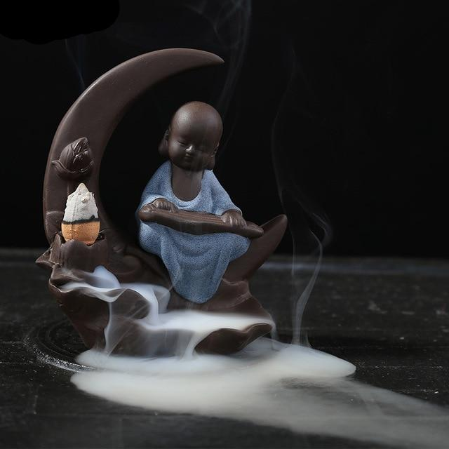 Cool Monk On The Moon Electric Ceramic Incense Burner