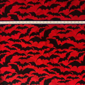 Mask - Black Bats on Red