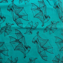 Load image into Gallery viewer, Mask - Black Bats on Teal