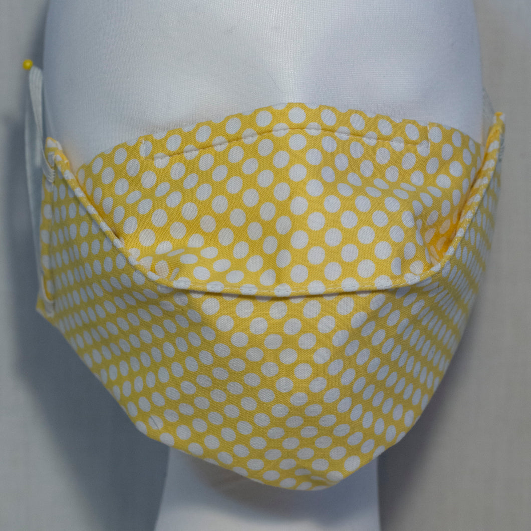 Mask - White Small Spot on Yellow