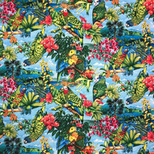 Load image into Gallery viewer, Mask - Amazon Parrots and Flora 3702 on Light Blue