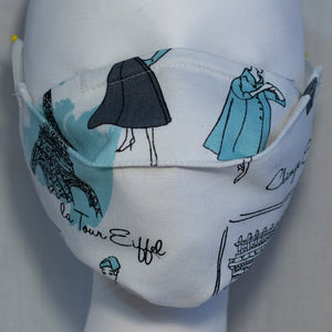 Mask - Teal Fashion on White