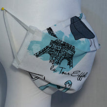 Load image into Gallery viewer, Mask - Teal Fashion on White