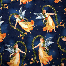 Load image into Gallery viewer, Mask - Retro Christmas Angels on Navy
