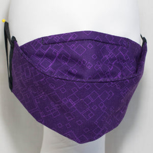 Mask - Tonal Squares on Dark Purple