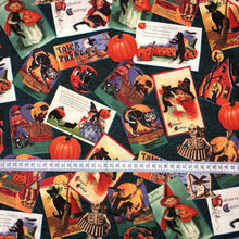 Load image into Gallery viewer, Mask - Halloween Postcards 12699 on Black