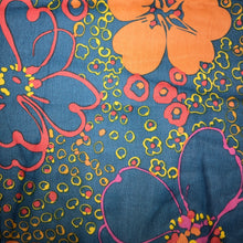 Load image into Gallery viewer, Mask - Vintage Orange Floral on Dark Blue