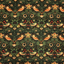 Load image into Gallery viewer, Mask - William Morris Strawberry Thief on Black