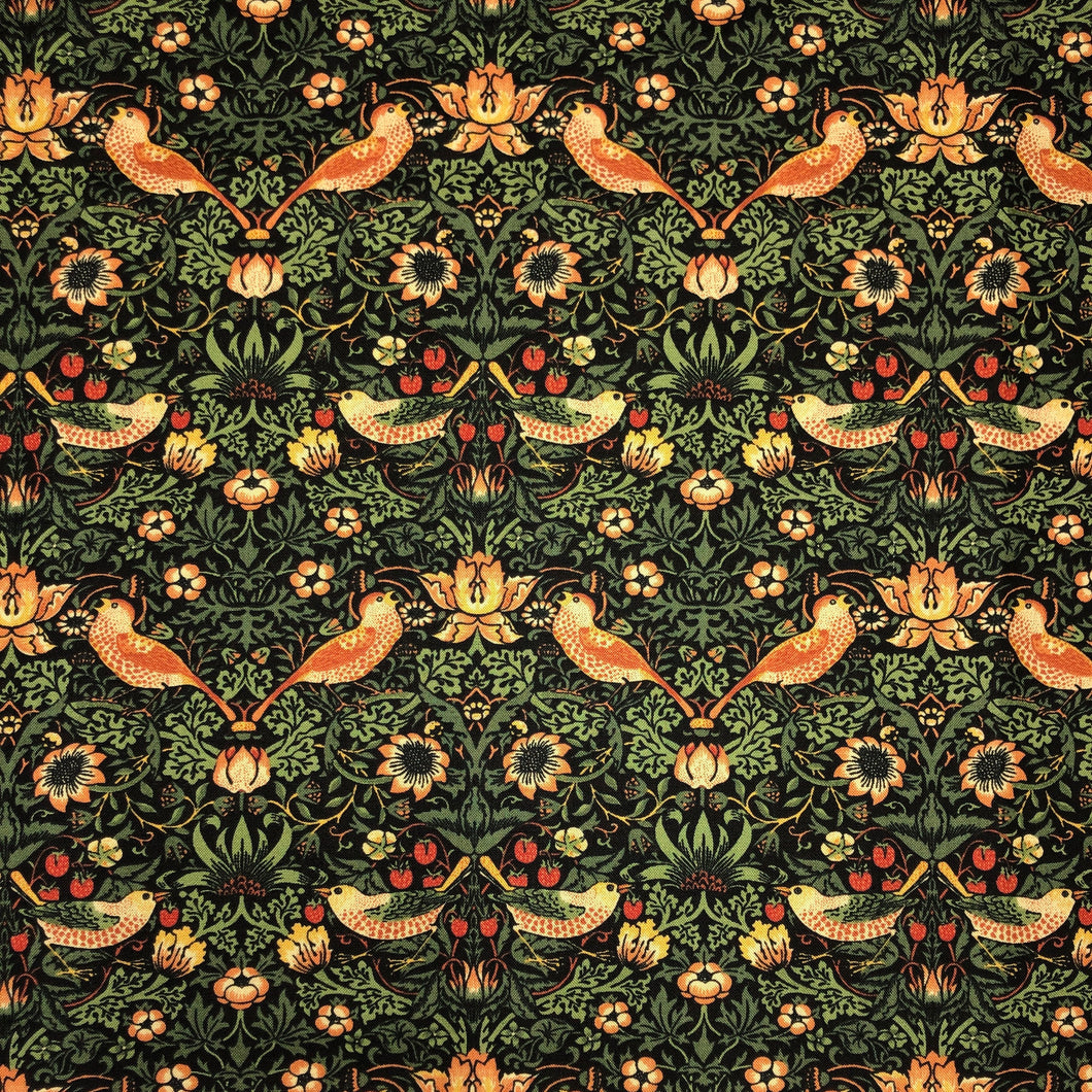 Mask - William Morris Strawberry Thief on Black