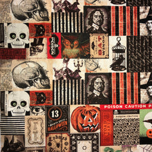 Load image into Gallery viewer, Mask - Victorian Striped Halloween on Taupe