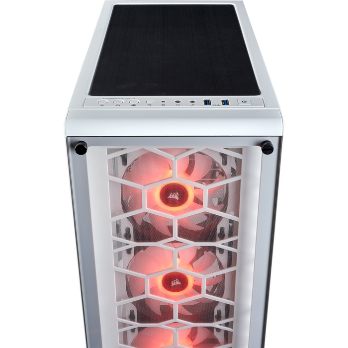 Crystal Series 460X RGB Compact ATX Mid-Tower Case — White