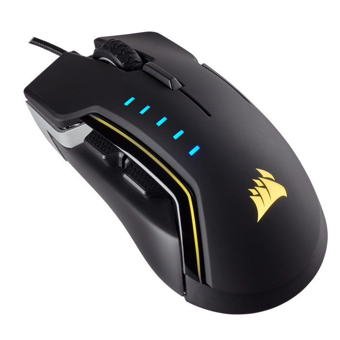 Corsair GLAIVE RGB Gaming Mouse — Aluminum