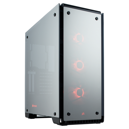Crystal 570X RGB Mirror Black Tempered Glass, Premium ATX Mid-Tower Case