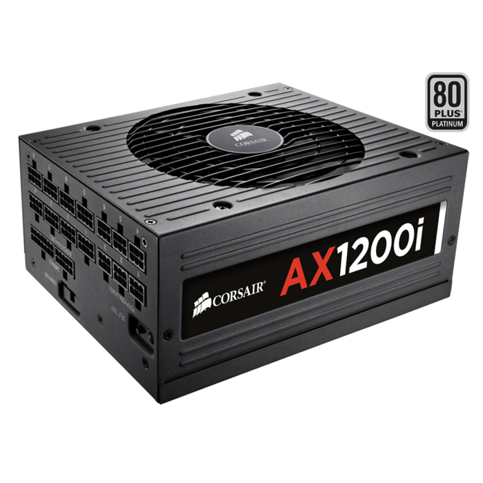 Corsair AX1200i Digital ATX Power Supply — 1200 Watt 80 PLUS® PLATINUM Certified Fully-Modular PSU (UK Plug)