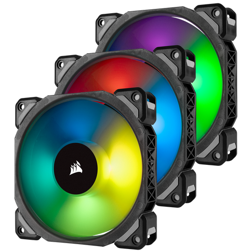 Corsair ML120 PRO RGB LED 120MM PWM Premium Magnetic Levitation Fan — 3 Fan Pack with Lighting Node PRO Case Fans