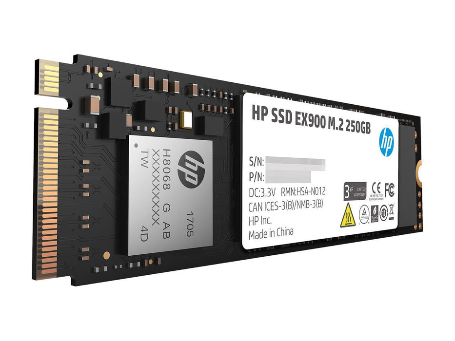 HP EX900 M.2 250GB PCIe 3.0 x4 NVMe 3D TLC NAND Internal SSD