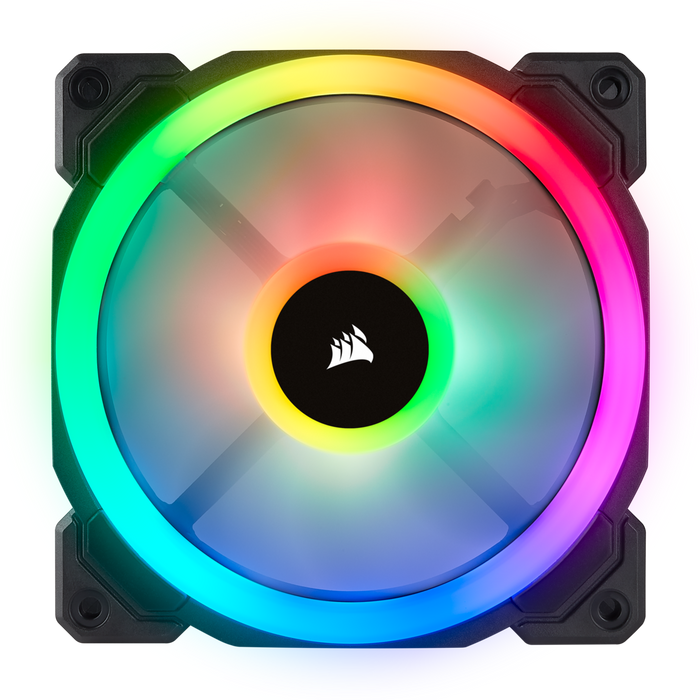 Corsair LL120 RGB 120mm Dual Light Loop RGB LED PWM Fan — 3 Fan Pack with Lighting Node PRO