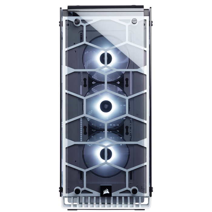 Corsair Crystal Series 570X RGB ATX Mid-Tower Case — White