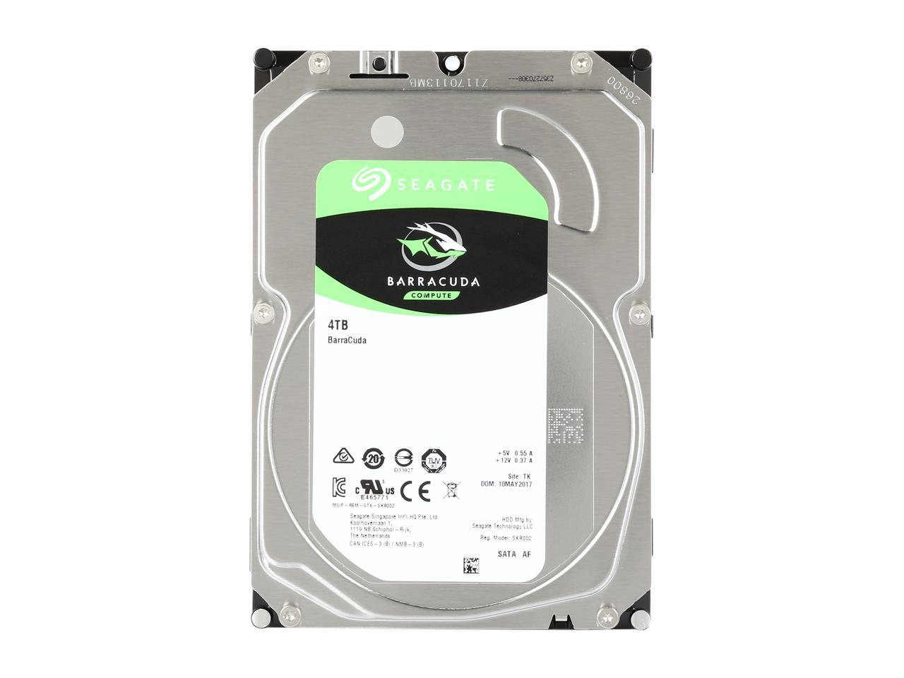Seagate BarraCuda ST4000DM004 4TB 5400 RPM 256MB Cache SATA 6.0Gb/s 3.5""