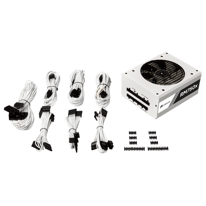 Corsair RMx White Series™ RM750x — 750 Watt 80 PLUS® Gold Certified Fully Modular PSU