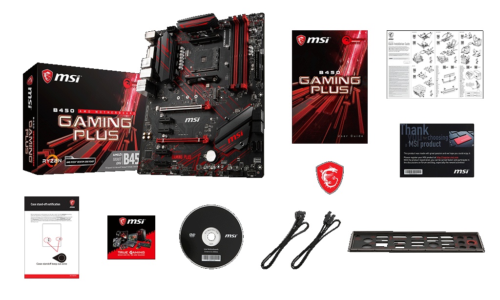 MSI B450 Gaming Plus Motherboard