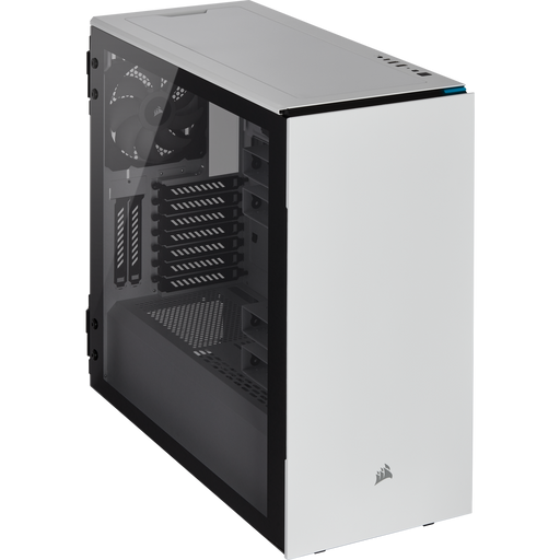 Carbide Series 678C Low Noise Tempered Glass ATX Case — White