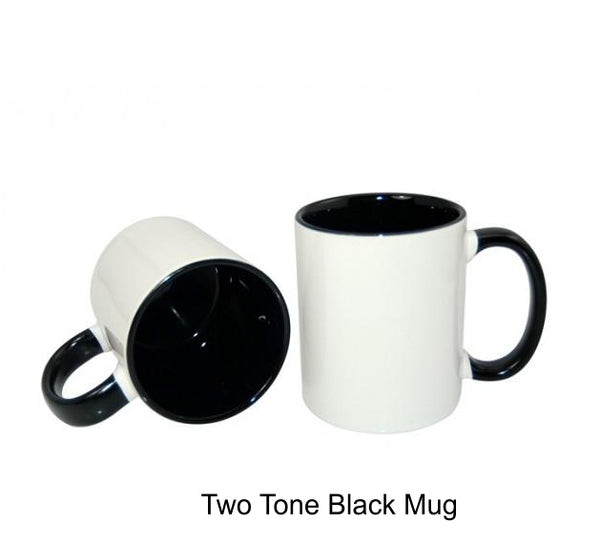 Coloured  Two Tone Inner Photo Mugs 11oz Personalised Mug