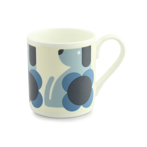 Dog Blue Poppy China  Mug