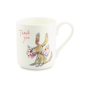 Quintin Blake Thank You, Dog Bow Tie China Mug
