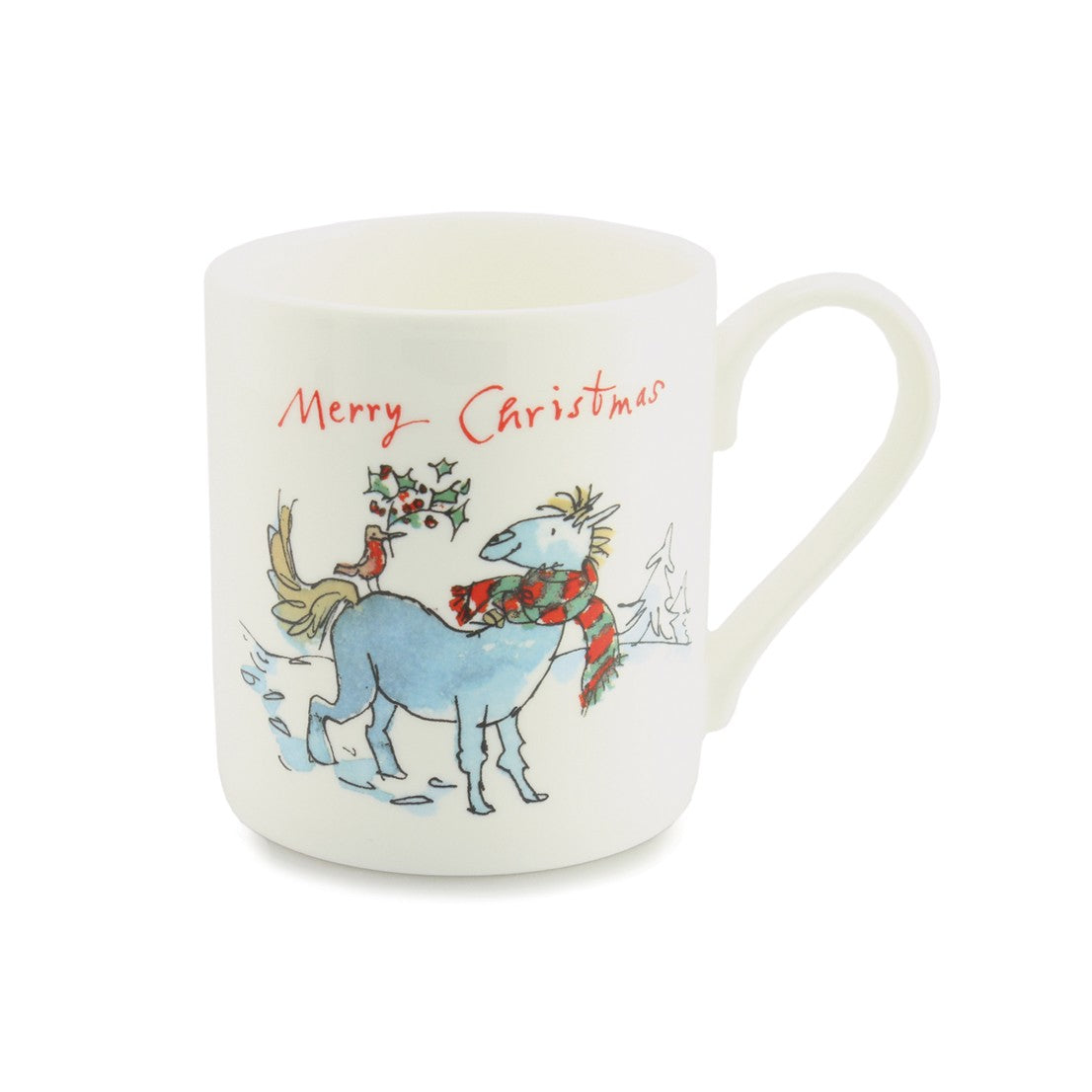 Quintin Blake Horse & Robin Holly China Mug