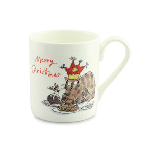 Quintin Blake Cat and Mince Pies China Mug