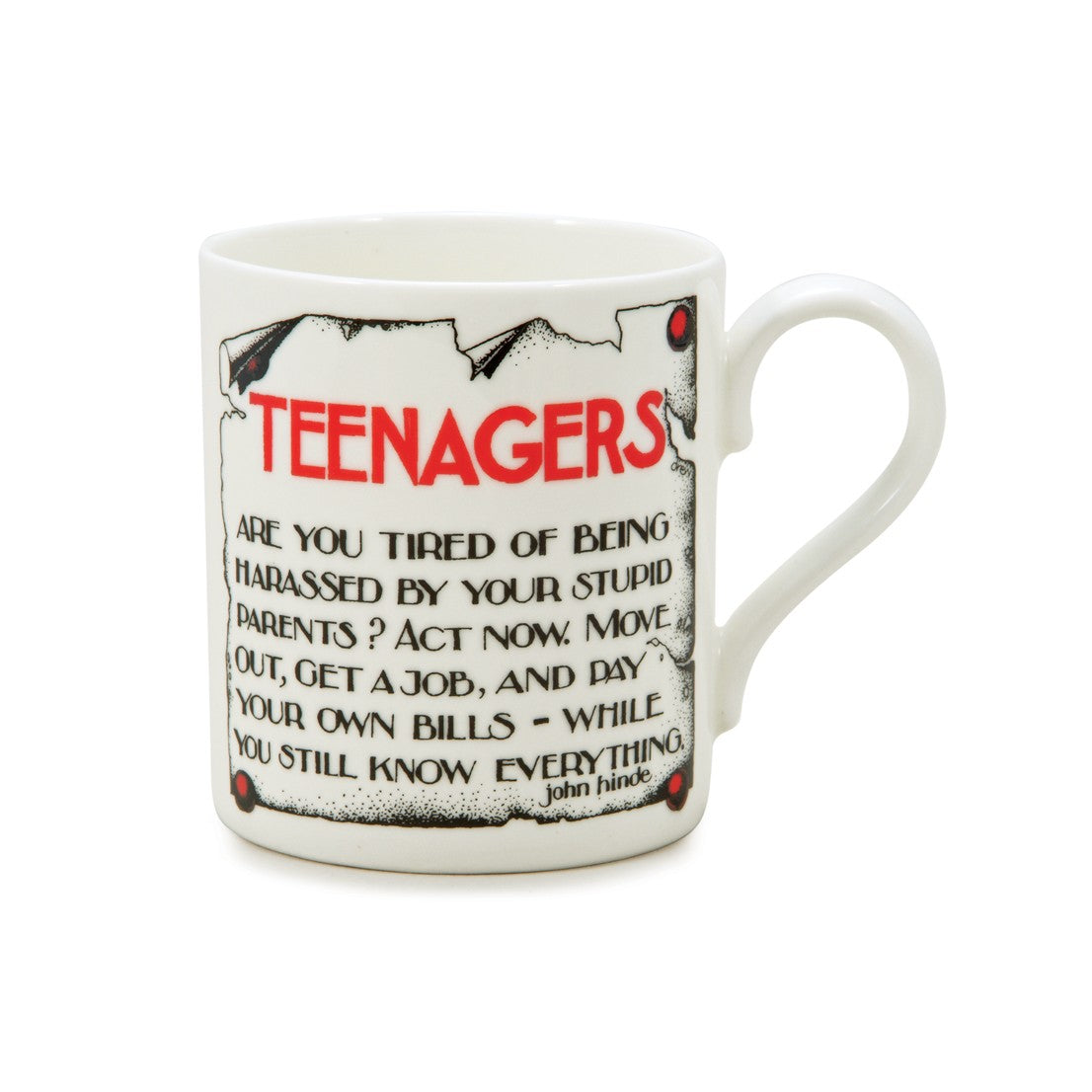 Simon Drew Teenager China Mug