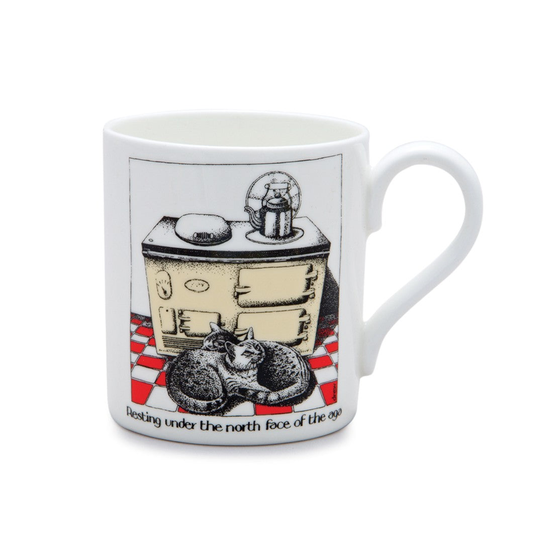 Simon Drew North Face of the Aga China Mug