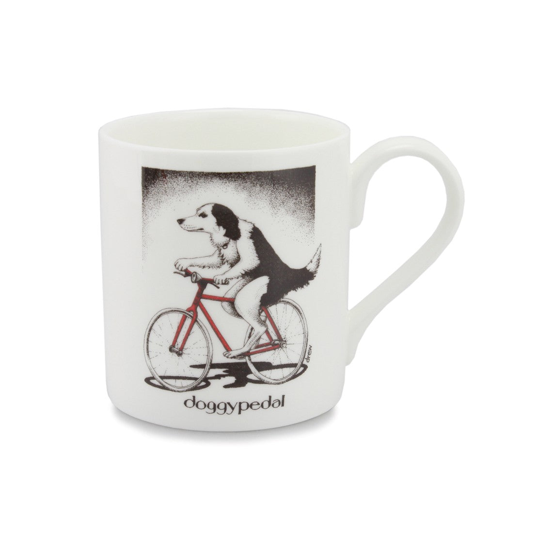 Simon Drew Doggy Pedal China Mug