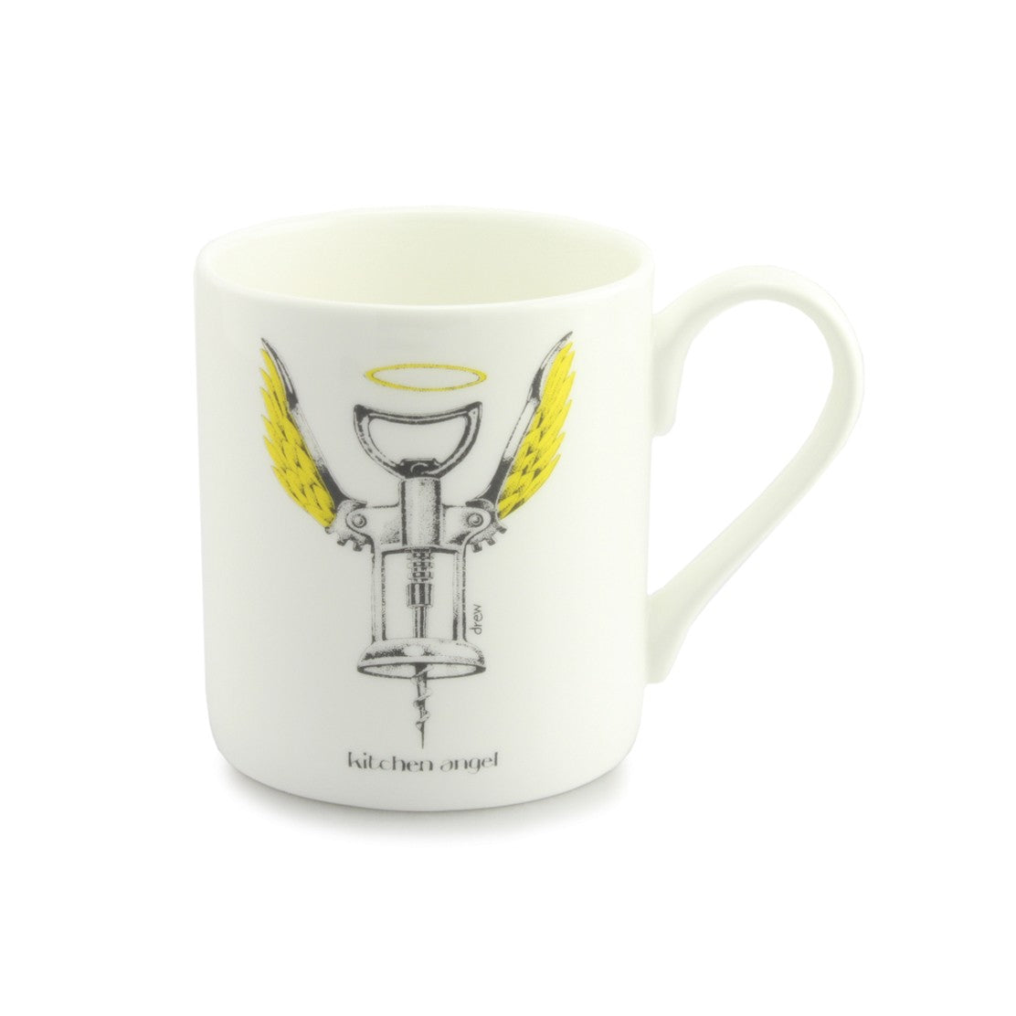 Simon Drew Kitchen Angel China Mug
