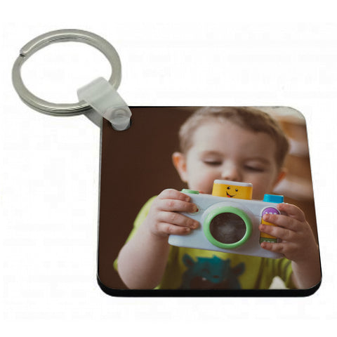 Personalised Printed Square Key Ring 5cm x 5cm