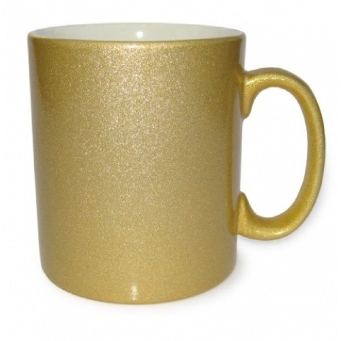 Gold Speckle Personalised Photo Mug