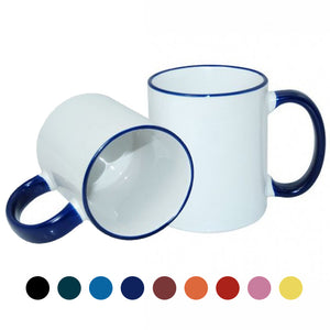 Coloured Photo Two Tone Mugs 11oz Personalised Photo Mug
