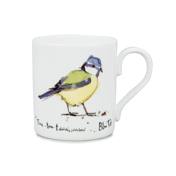 Blue Tit China Mug by Madeleine Floyd