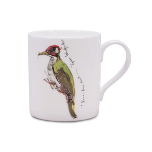 Madeleine Floyd Green Woodpecker China Mug