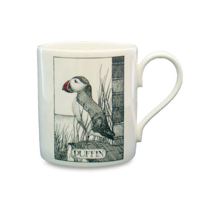 Simon Drew Puffin Nuffin China Mug